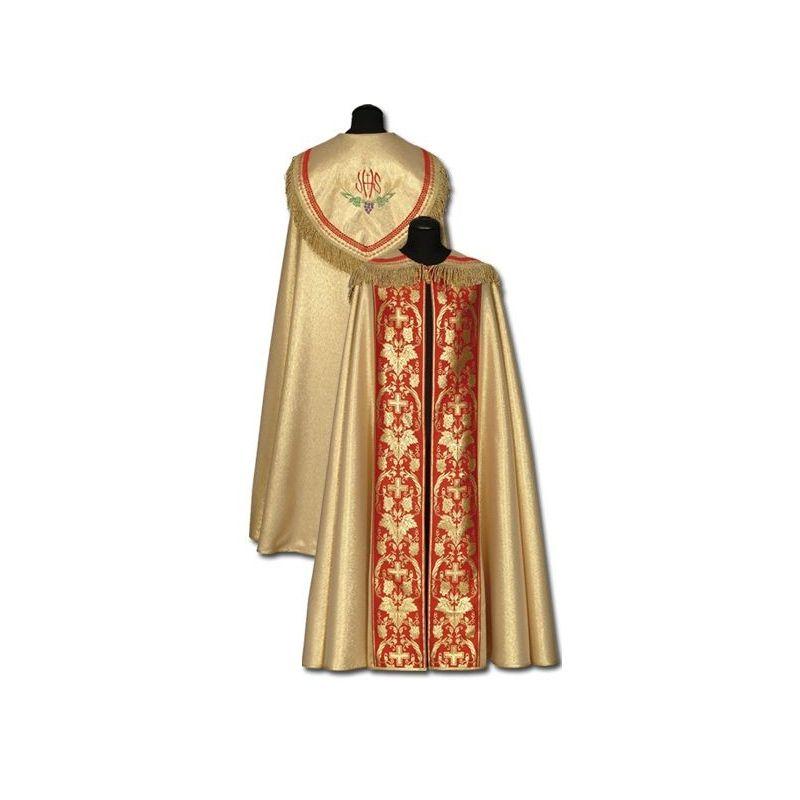 Kapa złota z czerwonymi dodatkami