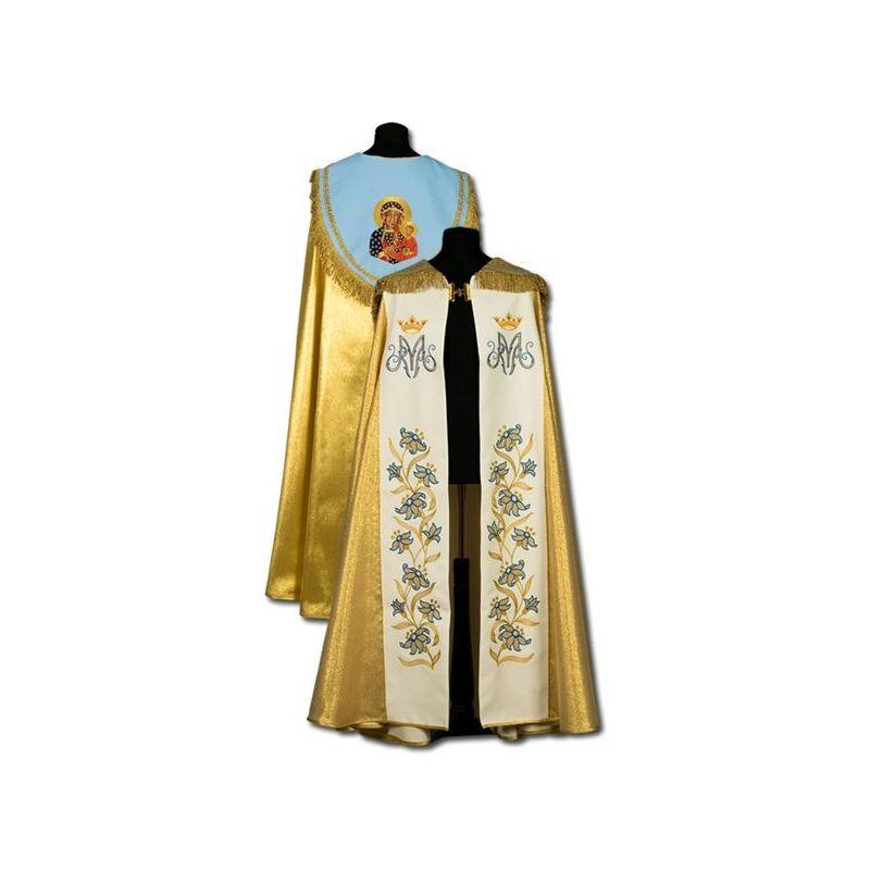 Kapa złota Maryjna - ręcznie haftowana