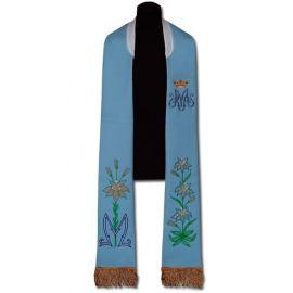 Stuła kapłańska Maryjna - haftowana (204)