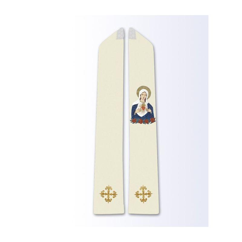 Stuła z wizerunkiem Serce Maryi