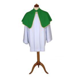Peleryna ministrancka zielona jednostronna