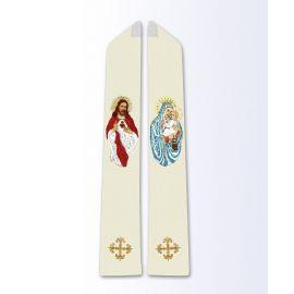 Stuła z wizerunkiem Serca Pana Jezusa i MB Szkaplerznej