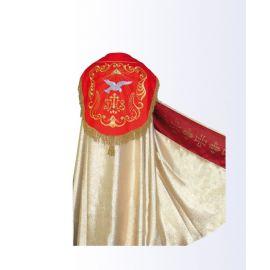 Kapa złota z czerwonym pasem IHS + stuła