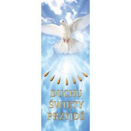 Baner Duchu święty Przyjdź