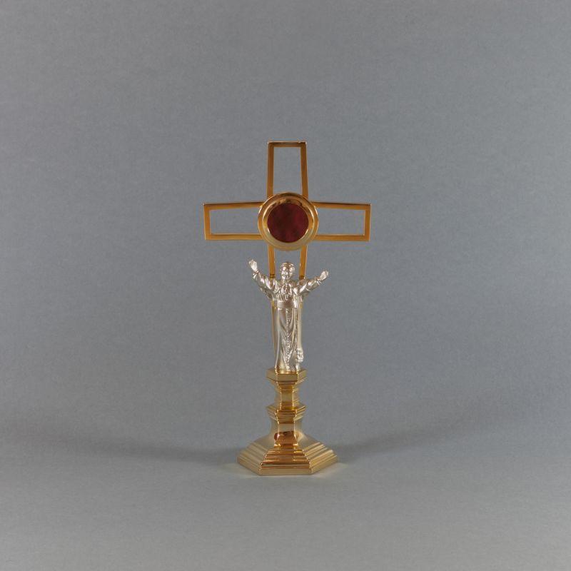 Relikwiarz złocony Jan Paweł II