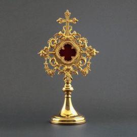 Relikwiarz duży złocony