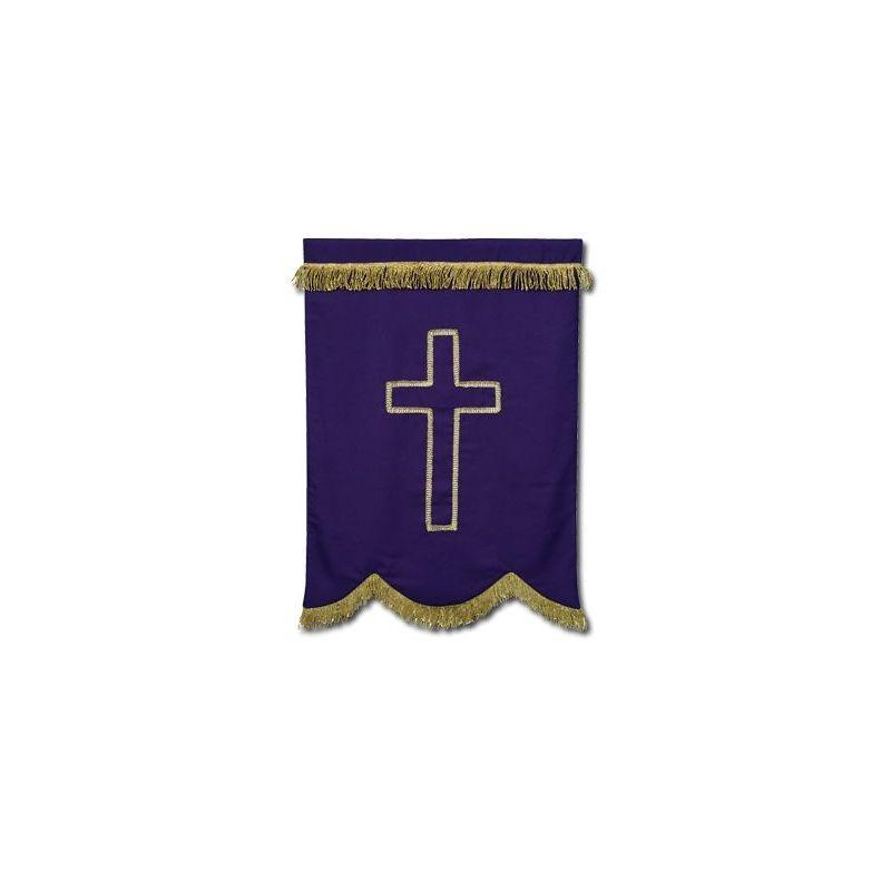 Chorągiew fioletowa Krzyż