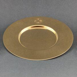 Patena kielichowa pozłacana, mosiężna średnica 15,5 cm)