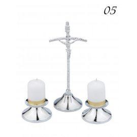 Komplet  kolędowy/papieski srebrny (5)