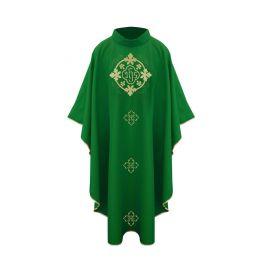 Ornat  z eucharystycznym haftem - zielony
