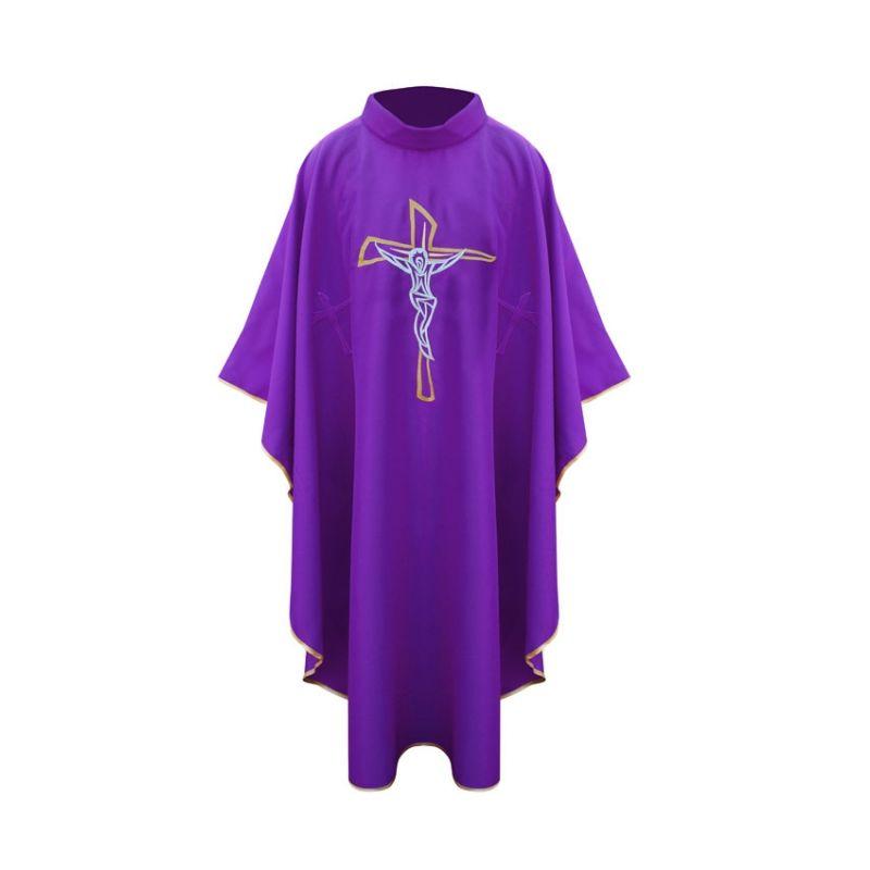 Ornat z krzyżem - fioletowy