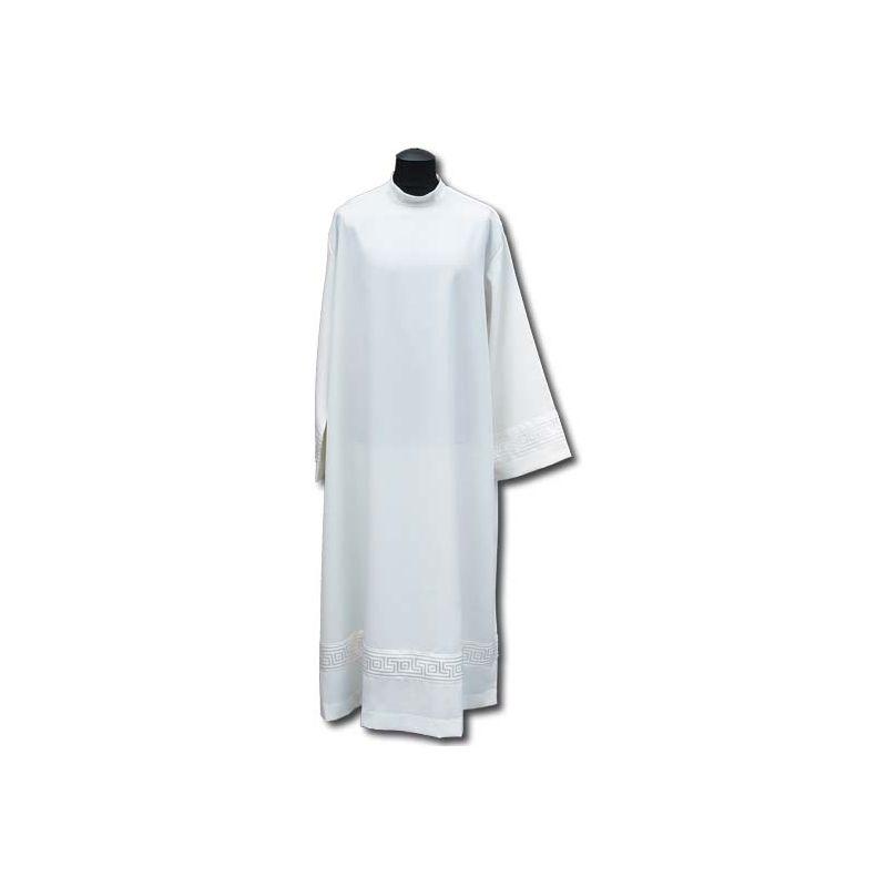 Alba kapłańska wstawka atłasowa