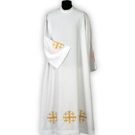 Alba kapłańska haftowana krzyż jerozolimski  (14)