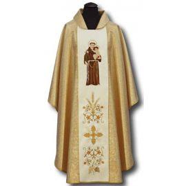 Ornat  haftowany św. Antonii z lilijką