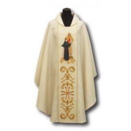 Ornat św. Faustyna i Jezus Miłosierny