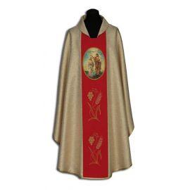 Ornat haftowany Jan Chrzciciel - ikona malowana