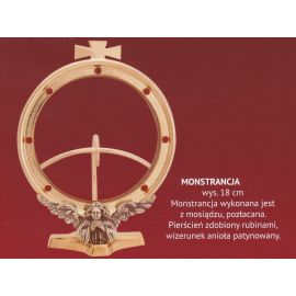 Monstrancja pozłacana, hostia 125mm,  wys. 18 cm (14)