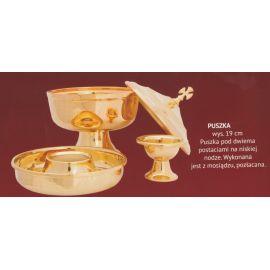 Puszka liturgiczna pod dwiema postaciami - 19 cm