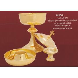 Puszka liturgiczna pod dwiema postaciami - 29 cm