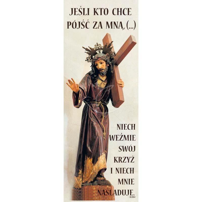 Baner Wielkanocny - Jeśli kto chce pójść za Mną