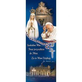 Baner - Św. Jan Paweł II Matka Boża Fatimska