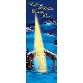 Baner Bożonarodzeniowy - Czekamy na Ciebie Dobry Boże