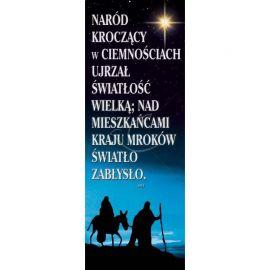 Baner Bożonarodzeniowy - Naród kroczący w ciemnościach ...