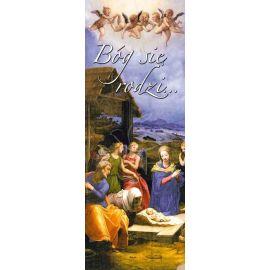 Baner Bożonarodzeniowy - Bóg się rodzi…
