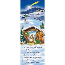 Baner Bożonarodzeniowy - W żłobie leży