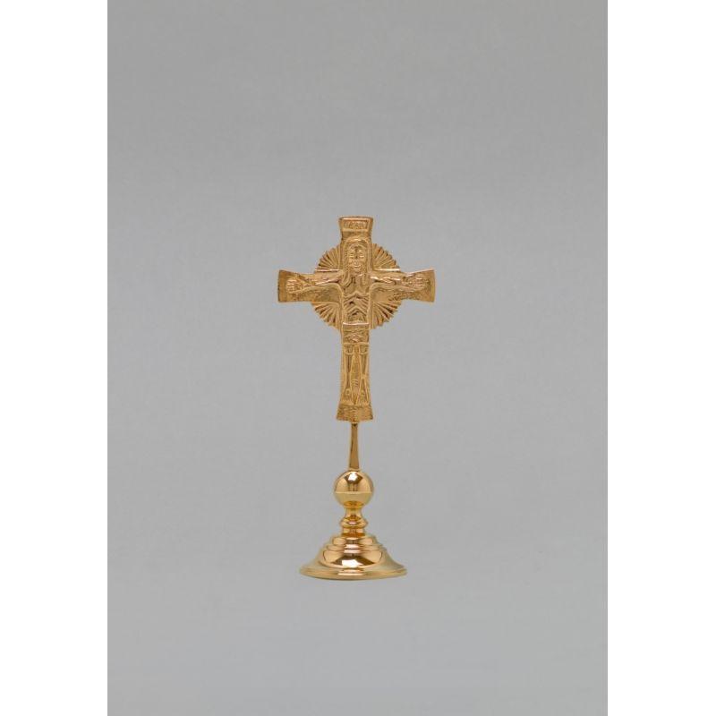 Krzyż na stół duży, pozłacany - 25 cm