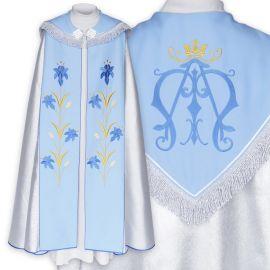 Kapa liturgiczna Maryjna - haftowana (3)