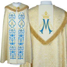 Kapa liturgiczna Maryjna haftowana (45)