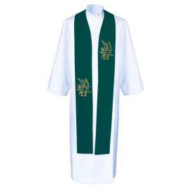 Stuła kapłańska Alfa i Omega - haftowana (4)