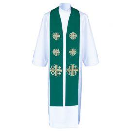 Stuła kapłańska do koncelebry - Krzyże Jerozolimskie (8)