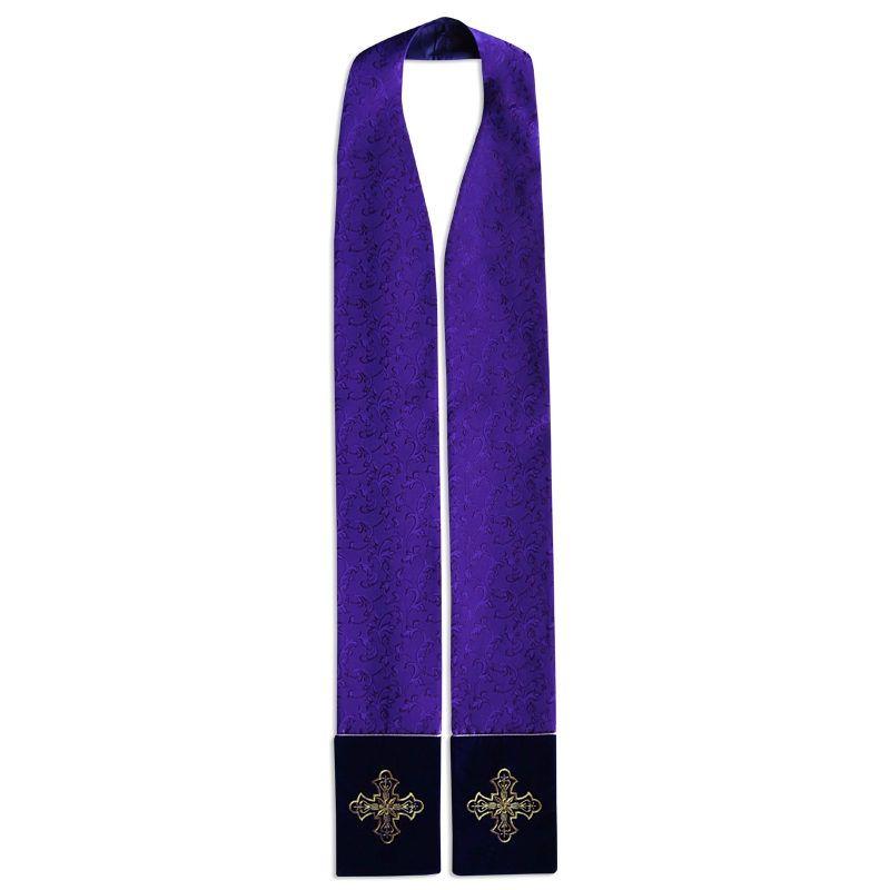 Stuła kapłańska - tkanina adamaszek