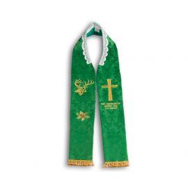 Stuła kapłańska - Św. Hubercie módl się za nami.