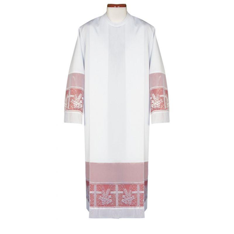 Alba kapłańska z podpinką, zakładki
