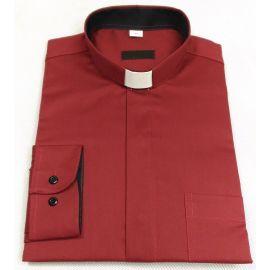 Koszula kapłańska bordo