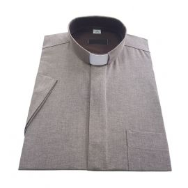 Koszula kapłańska - beż 70% bawełna