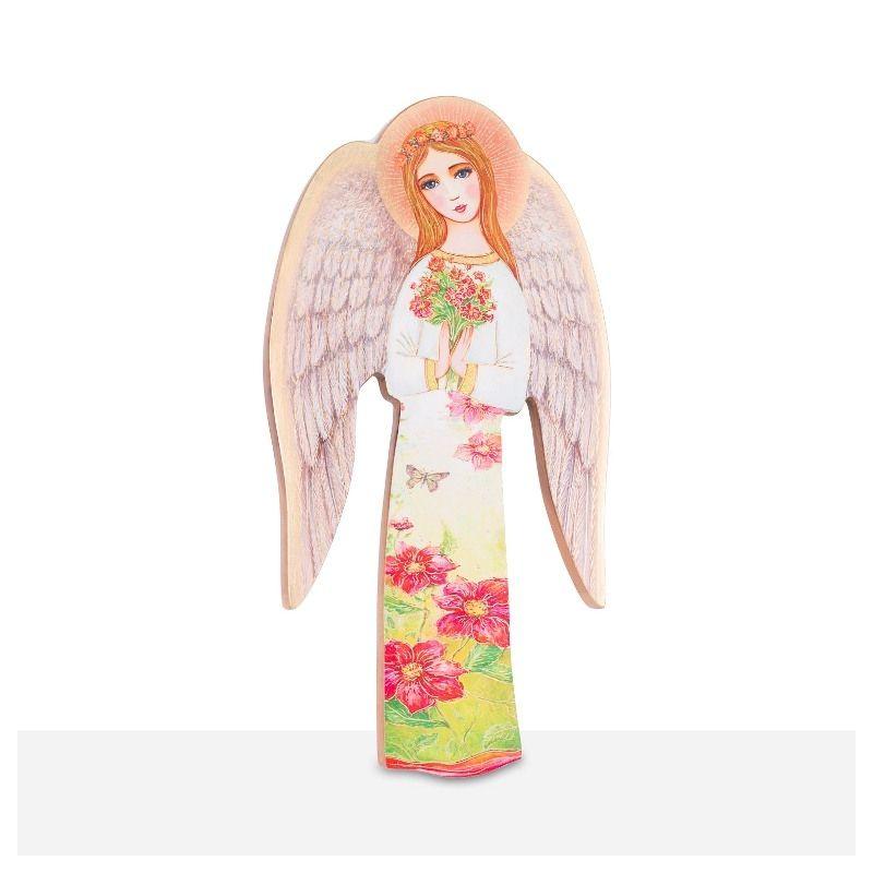 Ikona Anioł Stróż - trzymający kwiaty (25)