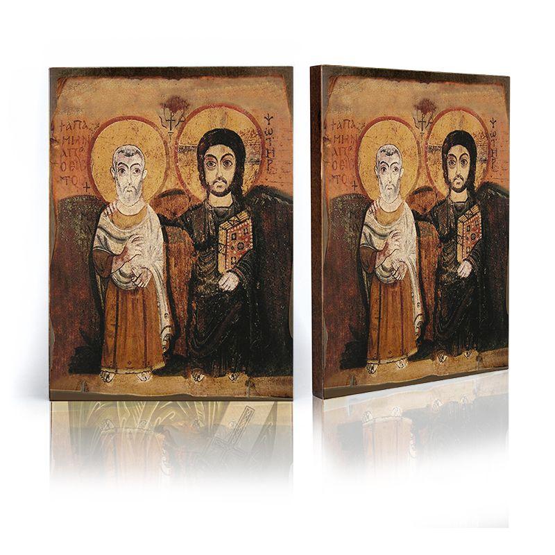 Chrystus i św. Menas ikona przyjaźni