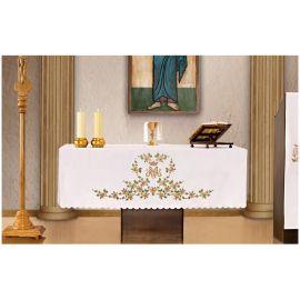 Obrus ołtarzowy - haftowany symbol Maryjny