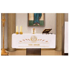 Obrus ołtarzowy - haftowany Venite adoremus - Przyjdźcie, uczcijmy