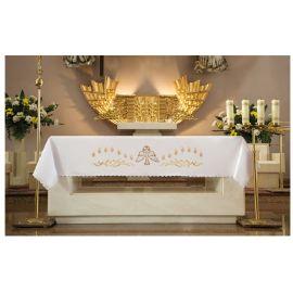 Obrus ołtarzowy - haftowany symbol Ducha Świętego