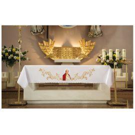 Obrus ołtarzowy - haftowany wizerunkiem Papieża Jana Pawła II (2)