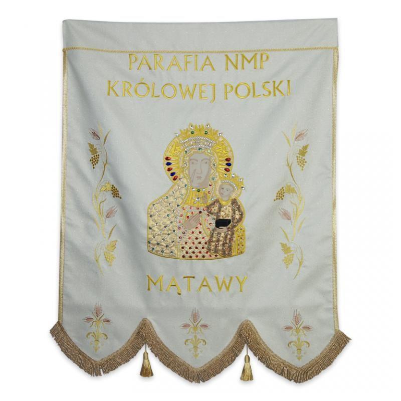 Chorągiew haftowana jednostronna - MB Częstochowska