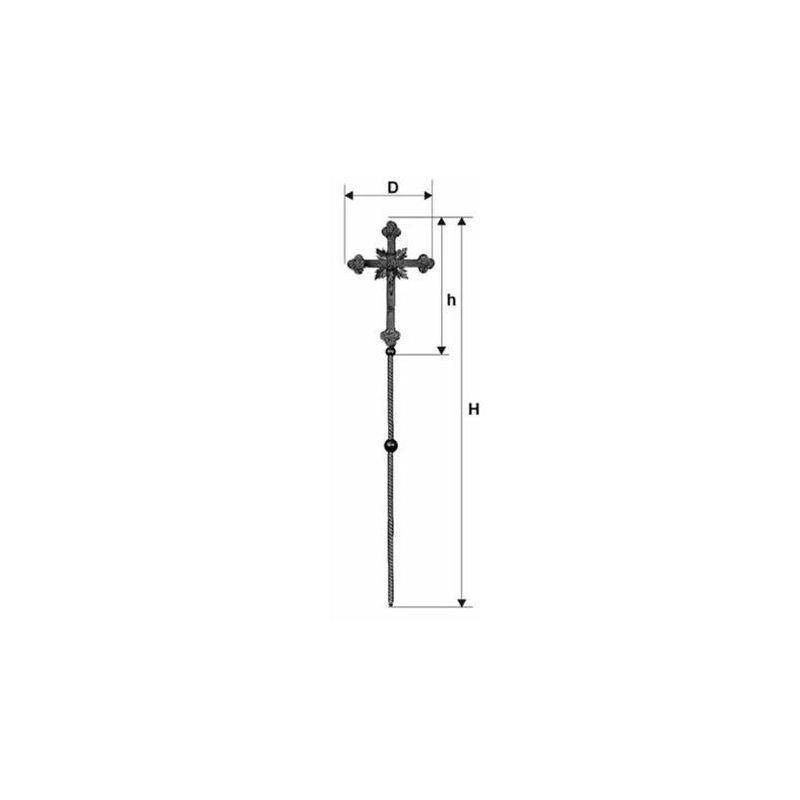 Krzyż procesyjny złocony (2)