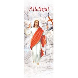 "Baner na Wielkanoc ""Alleluja!"" - biały (8)"