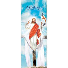 """Baner na Wielkanoc """"Alleluja!"""" - błękitny (9)"""