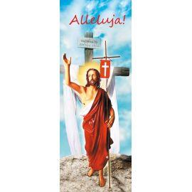 """Baner na Wielkanoc """"Alleluja!"""" - błękitny (11)"""